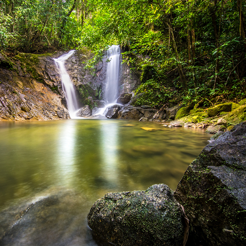 Ton Chong Fa Wasserfall, Khao Lak Lam Ru Nationalpark